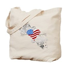 Independence Day Heart Tote Bag