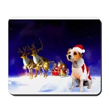Santa and lily.jpg Mousepad