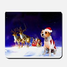 Santa and lily.jpg Mousepad