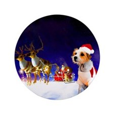 """Santa and lily.jpg 3.5"""" Button"""