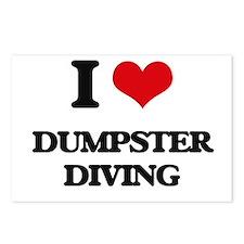 I Love Dumpster Diving Postcards (Package of 8)