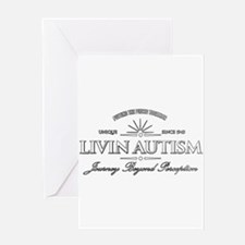 Livin Autism Greeting Cards