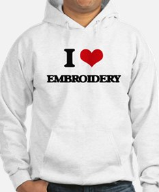 I Love Embroidery Hoodie
