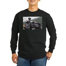 Steam train engine, Silverton, Long Sleeve T-Shirt