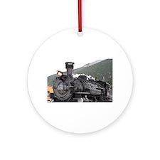 Steam train engine, Silverton, Co Ornament (Round)