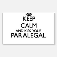 Keep calm and kiss your Paralegal Decal