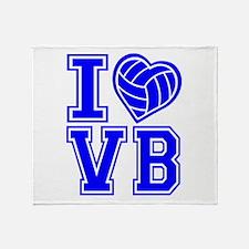 I LOVE VB Throw Blanket