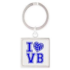 I LOVE VB Square Keychain