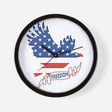Freedom July 4th Wall Clock