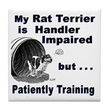 Rat Terrier Agility Tile Coaster