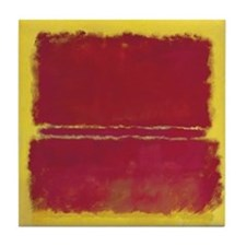 ROTHKO YELLOW BOX WITH RED Tile Coaster