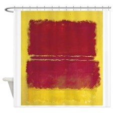 ROTHKO YELLOW BOX WITH RED Shower Curtain
