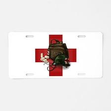 Army Cross Aluminum License Plate