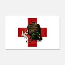 Army Cross Car Magnet 20 x 12