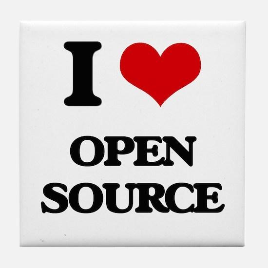 I Love Open Source Tile Coaster