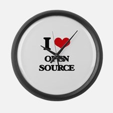 I Love Open Source Large Wall Clock