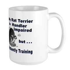 Rat Terrier Agility Large Mug