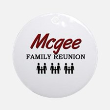 Mcgee Family Reunion Ornament (Round)