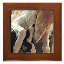 Borzoi Puppy Love Framed Tile