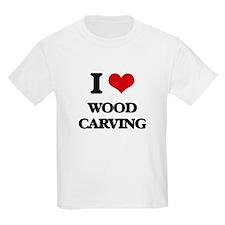 I Love Wood Carving T-Shirt
