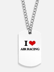 I Love Air Racing Dog Tags