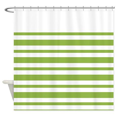 Green Stripe Shower Curtain By MarloDeeDesignsShowerCurtains
