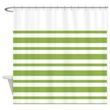 Green Stripe Shower Curtain