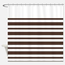 Stripe Tan Vertical Shower Curtains