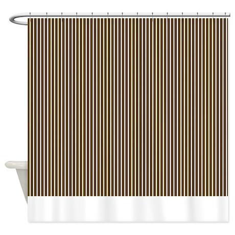 Brown Stripe Shower Curtain 2 By MarloDeeDesignsShowerCurtains