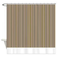 Brown Stripe Shower Curtain 2