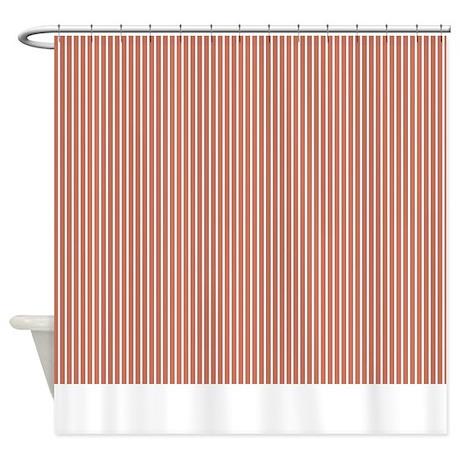 Red Stripe Shower Curtain 2 By Marlodeedesignsshowercurtains