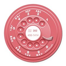 Rotary Faux -Pink Round Car Magnet