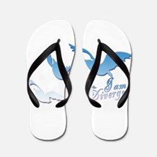 I am Divergent SkyBlue Flip Flops
