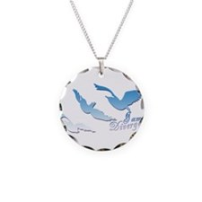 I am Divergent SkyBlue Necklace Circle Charm