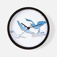 I am Divergent SkyBlue Wall Clock