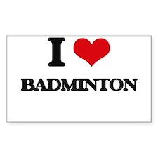 I Love Badminton Decal