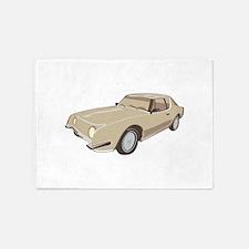 Gold Studebaker Avanti illustration 5'x7'Area Rug