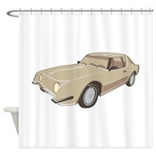 Gold Studebaker Avanti illustration Shower Curtain