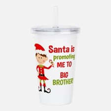Santa Big Brother Baby Announcement Acrylic Double