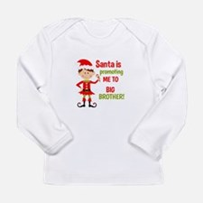 Santa Big Brother Baby Announcement Long Sleeve T-