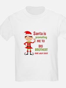 Big Brother Elf Santa Baby Annoucement T-Shirt