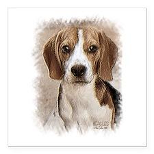 """Beagle Hound Square Car Magnet 3"""" x 3"""""""