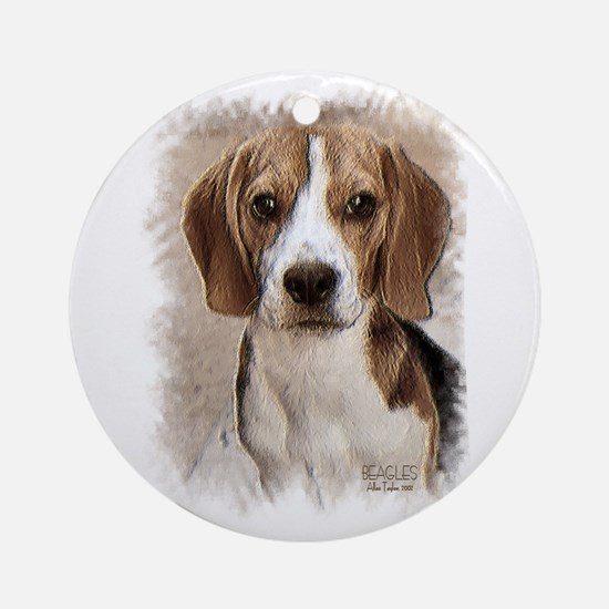 Beagle Hound Ornament (round)