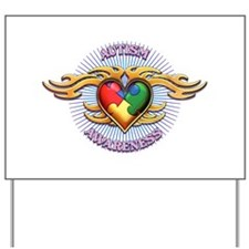 AUTISM TRIBAL HEART5.png Yard Sign