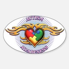AUTISM TRIBAL HEART5.png Decal