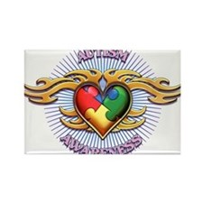AUTISM TRIBAL HEART5.png Magnets