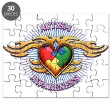 AUTISM TRIBAL HEART5.png Puzzle