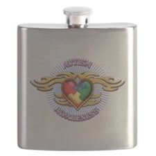AUTISM TRIBAL HEART5.png Flask
