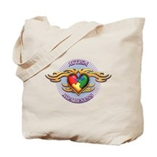 AUTISM TRIBAL HEART5.png Tote Bag