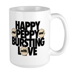 HAPPY AND PEPPY Large Mug